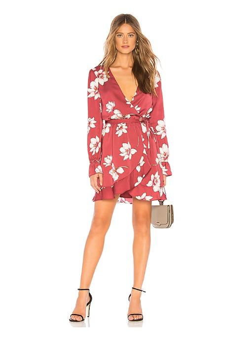 hermosaz rojo vestido corto