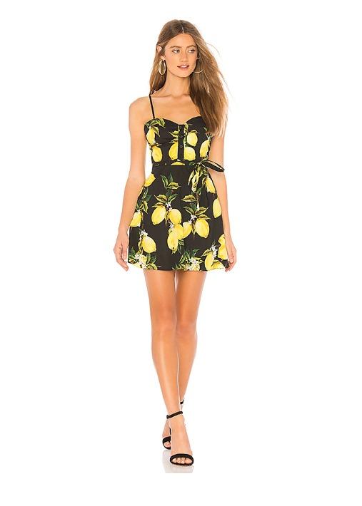 hermosaz negro y amarillo vestido