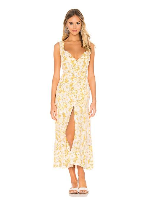 hermosaz vestido amarillo floral