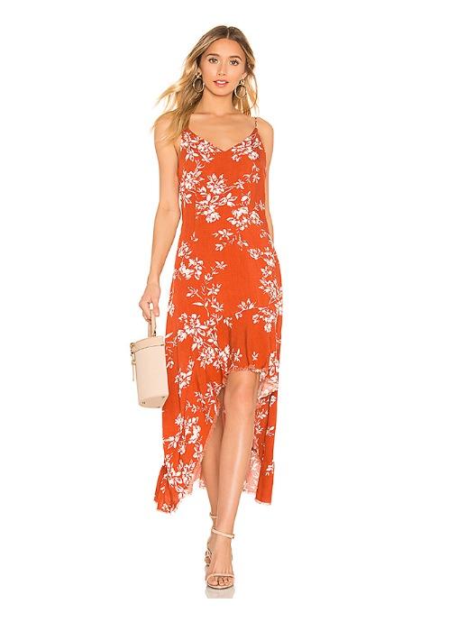 hermosaz vestido naranja largo