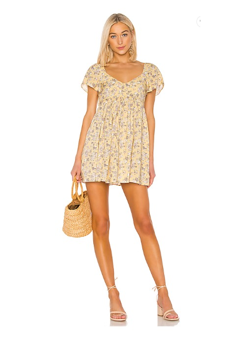hermosaz vestido amarillo corto