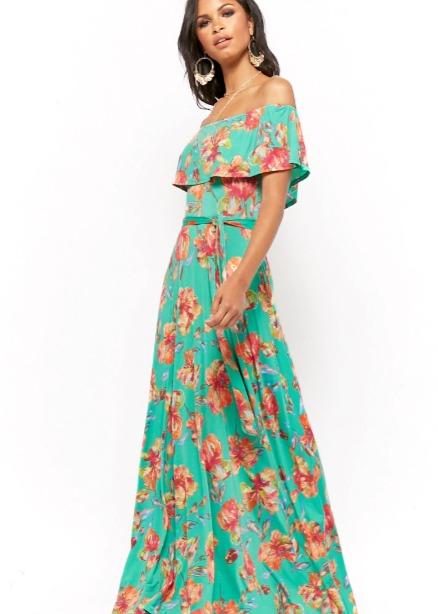 hermosaz vestido floral largo