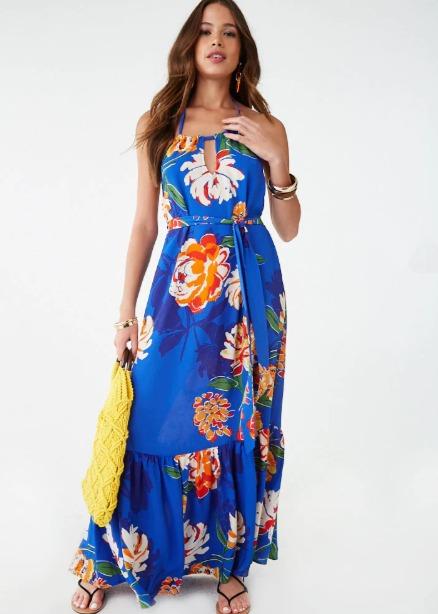 hermosaz vestido largo floral