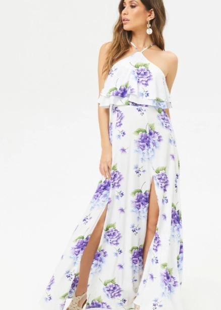 Hermosaz vestido blanco floral Hermosaz